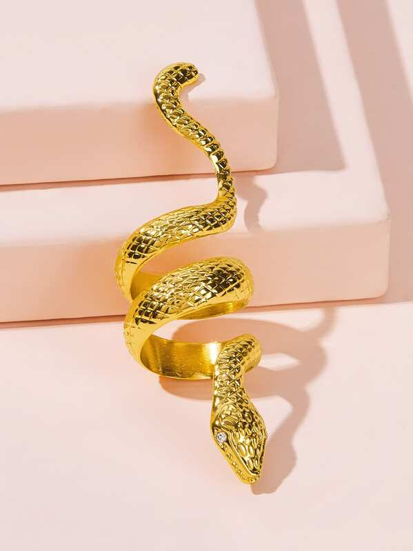 Snakeskin Design Ring 1pc, null