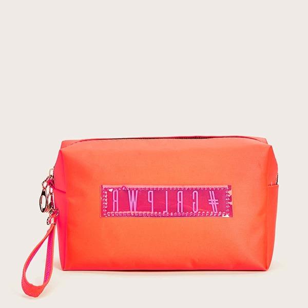Letter Pattern Makeup Bag