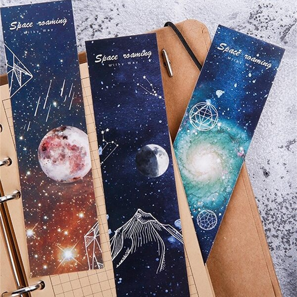 Boxed Space Planet Print Bookmark 30sheets