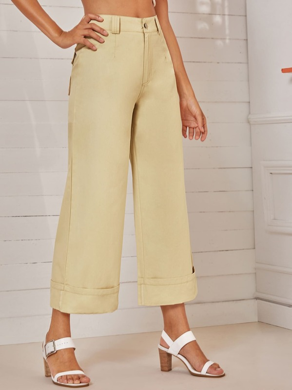 Dual Pocket Back Wide Leg Pants, Mary P.
