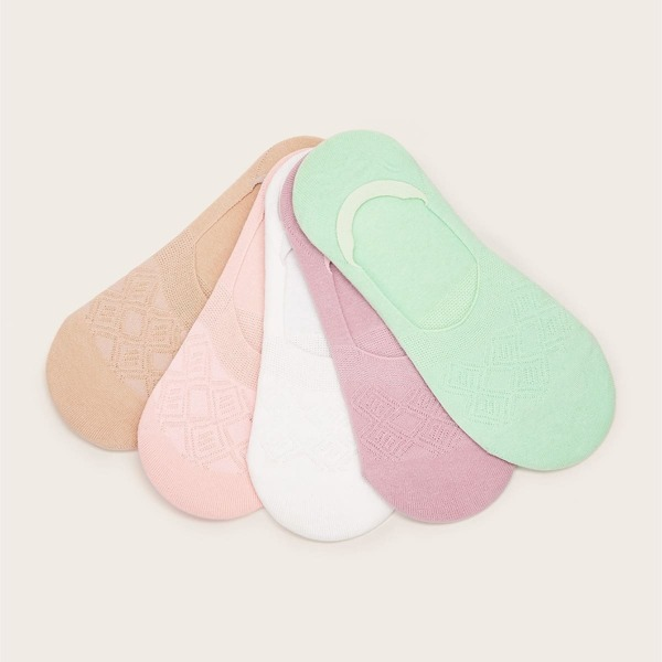 Color-block Invisible Socks 5pairs