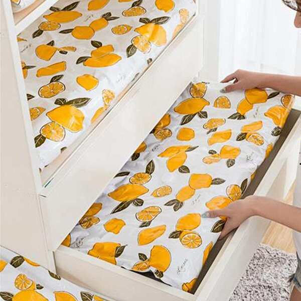 Lemon Print Cloth Storage Bag 1pc