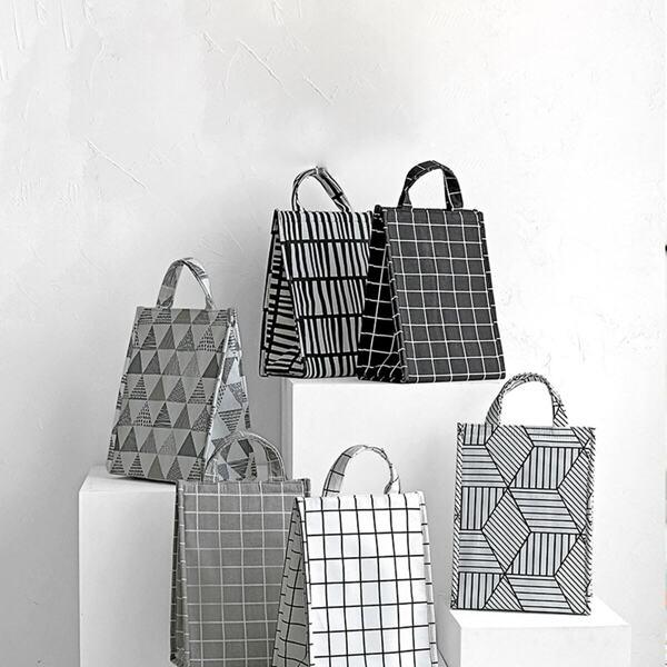 Geometric Pattern Insulation Lunch Bag 1pc