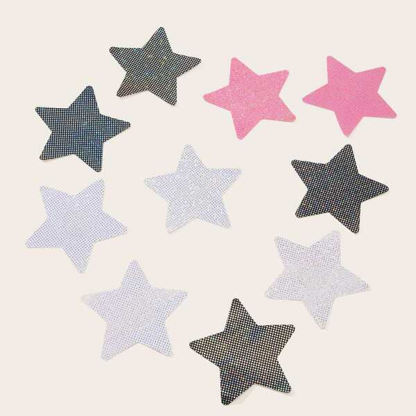 Star Shaped Nipple Cover 5pairs, Multicolor