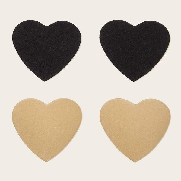 Heart Shaped Nipple Cover 2pairs, Multicolor