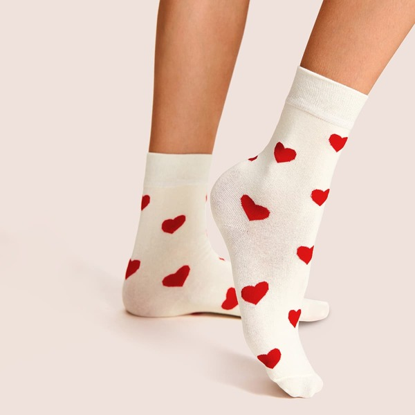 Heart Pattern Invisible Socks 1pair, Multicolor