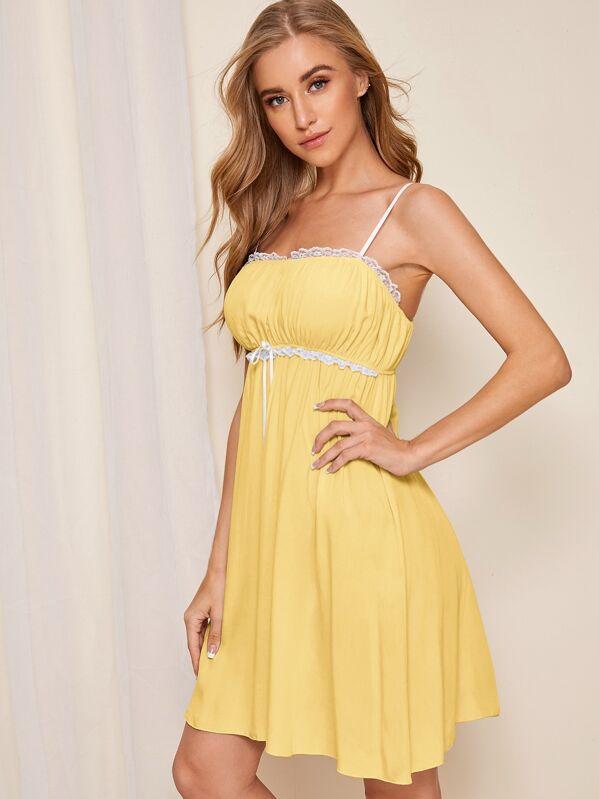Lace Trim Cami Dress, Na na