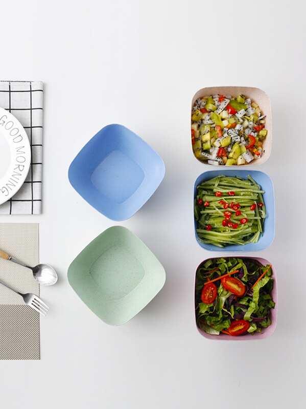 Plastic Square Salad Bowl 1pc