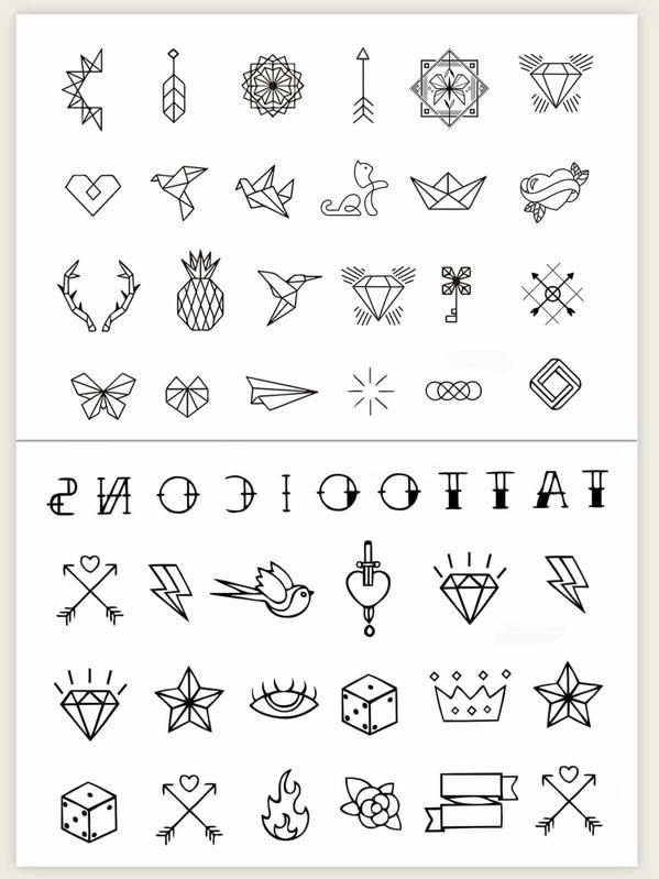 Mix Pattern Tattoo Sticker 2pcs