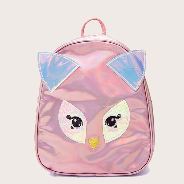 Girls Owl Detail Laser Backpack