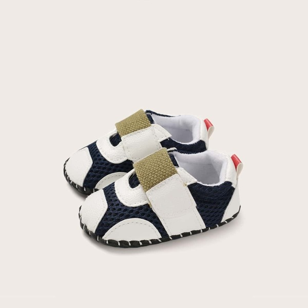 Boys PU Panel Velcro Strap Sneakers