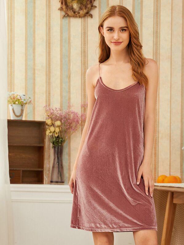 Velvet Cami Dress, Klavdia