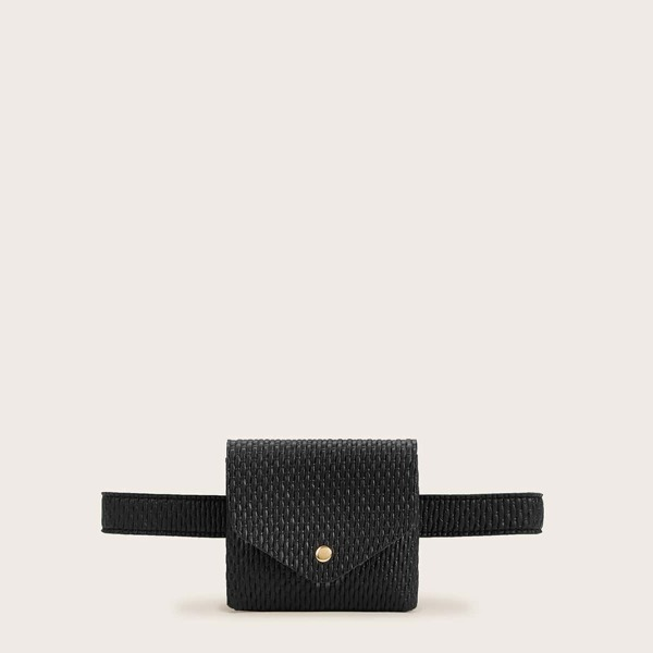 Woven Flap Fanny Pack