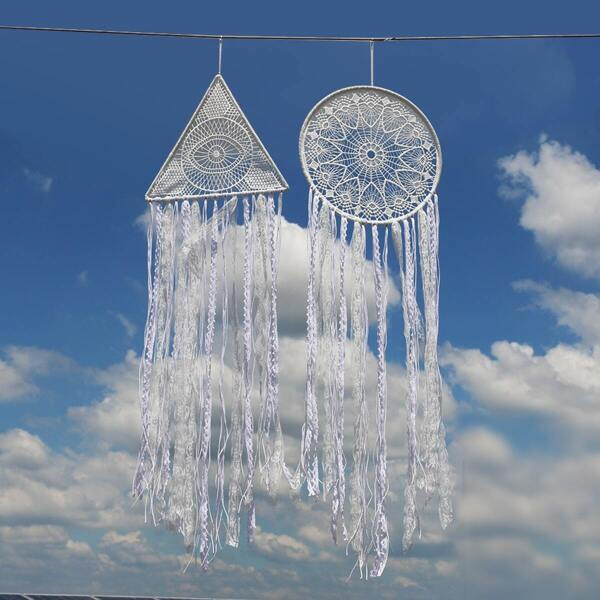 Geometric Shaped Hanging Woven Dream Catcher 1pc