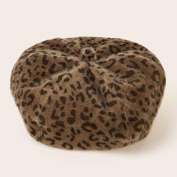 Girls Leopard Pattern Berets