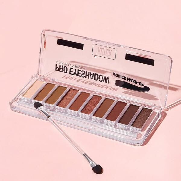 Pink Princess Lasting 10 Color Eyeshadow Palette With Brush