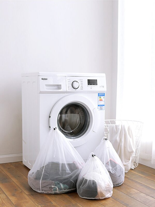 Drawstring Mesh Laundry Bag 1pc