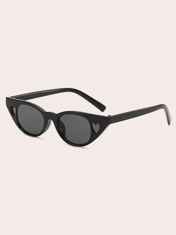 Kids Heart Design Cat Eye Sunglasses