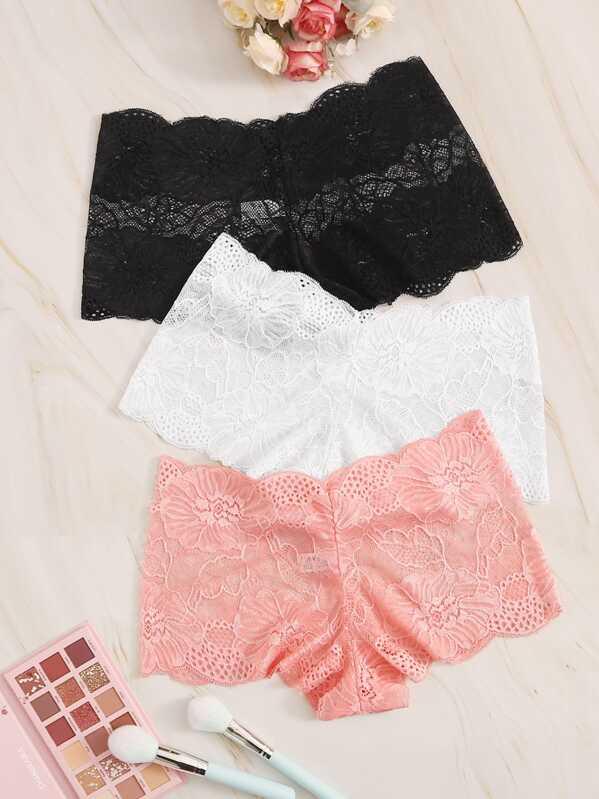 Floral Lace Panty Set 3pack