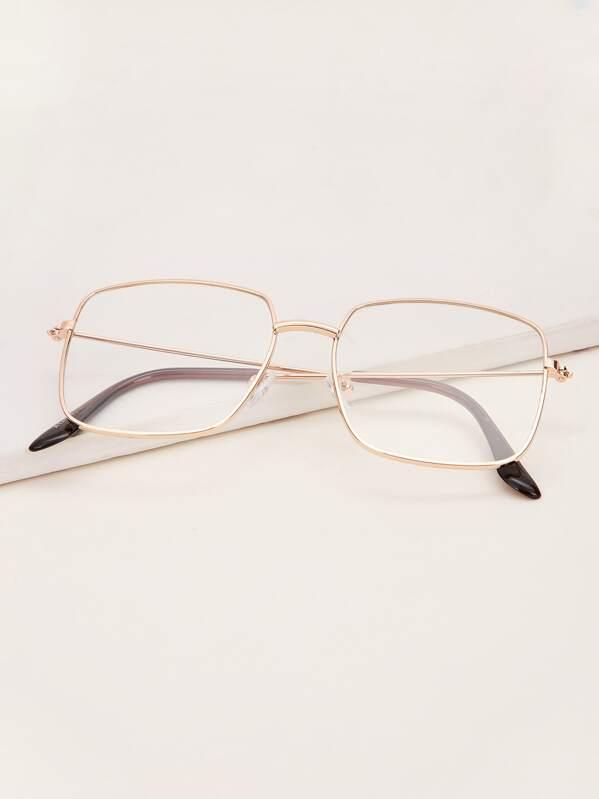 Toddler Kids Metal Frame Glasses