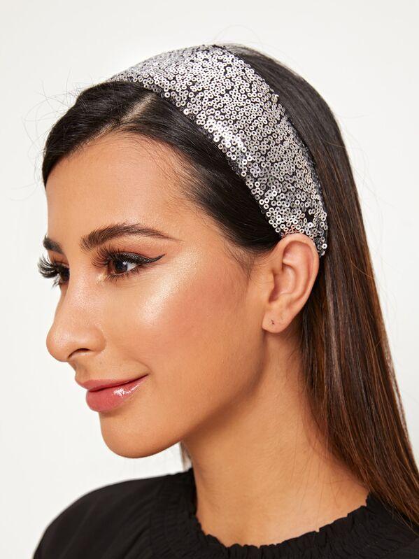 Wide Sequin Headband
