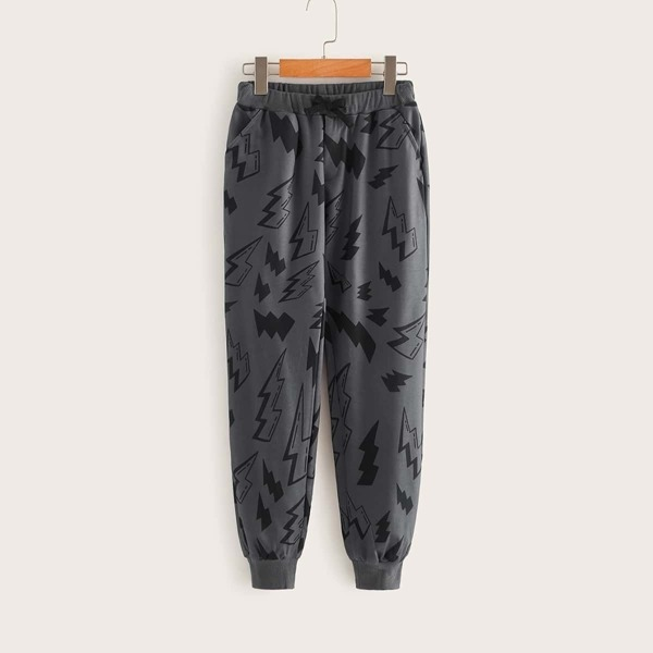 Boys Lightning Print Sweatpants