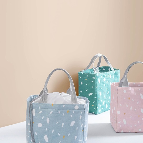 Portable Simple Pattern Lunch Bag 1pc
