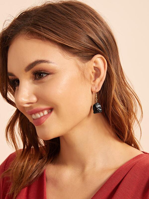 Stone Drop Earrings 1pair