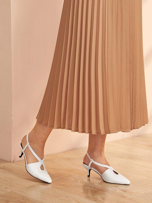 Point Toe Cross Strap Stiletto Heels
