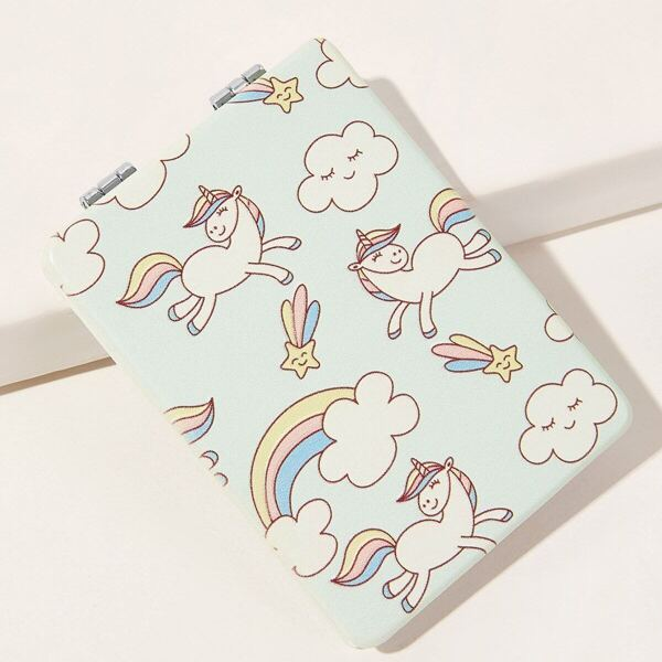 Unicorn Pattern Folded Mirror 1pc