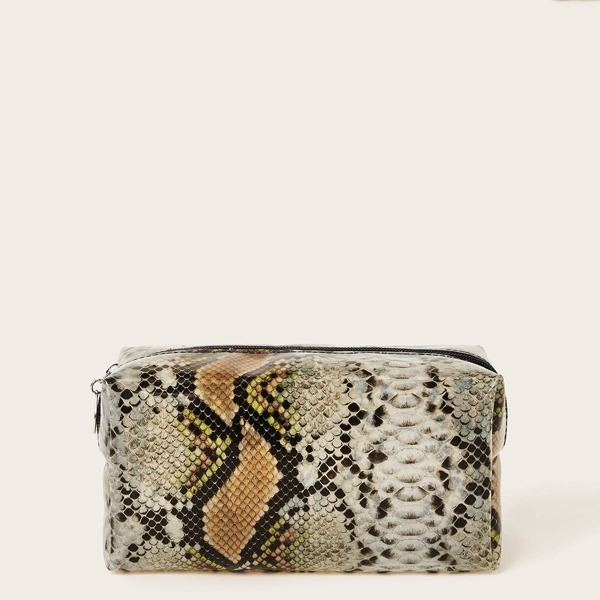 Snakeskin Pattern Makeup Bag