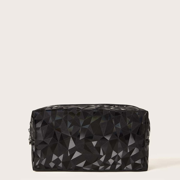 Geometric Pattern Makeup Bag