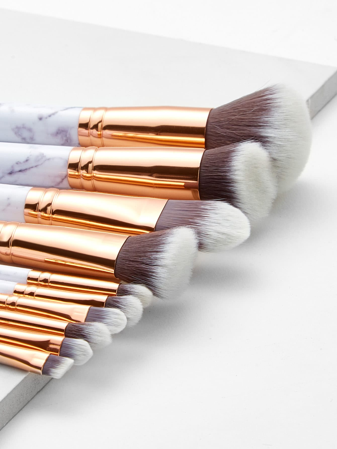 marble makeup brushes. marble pattern professional makeup brush 10pcs brushes h