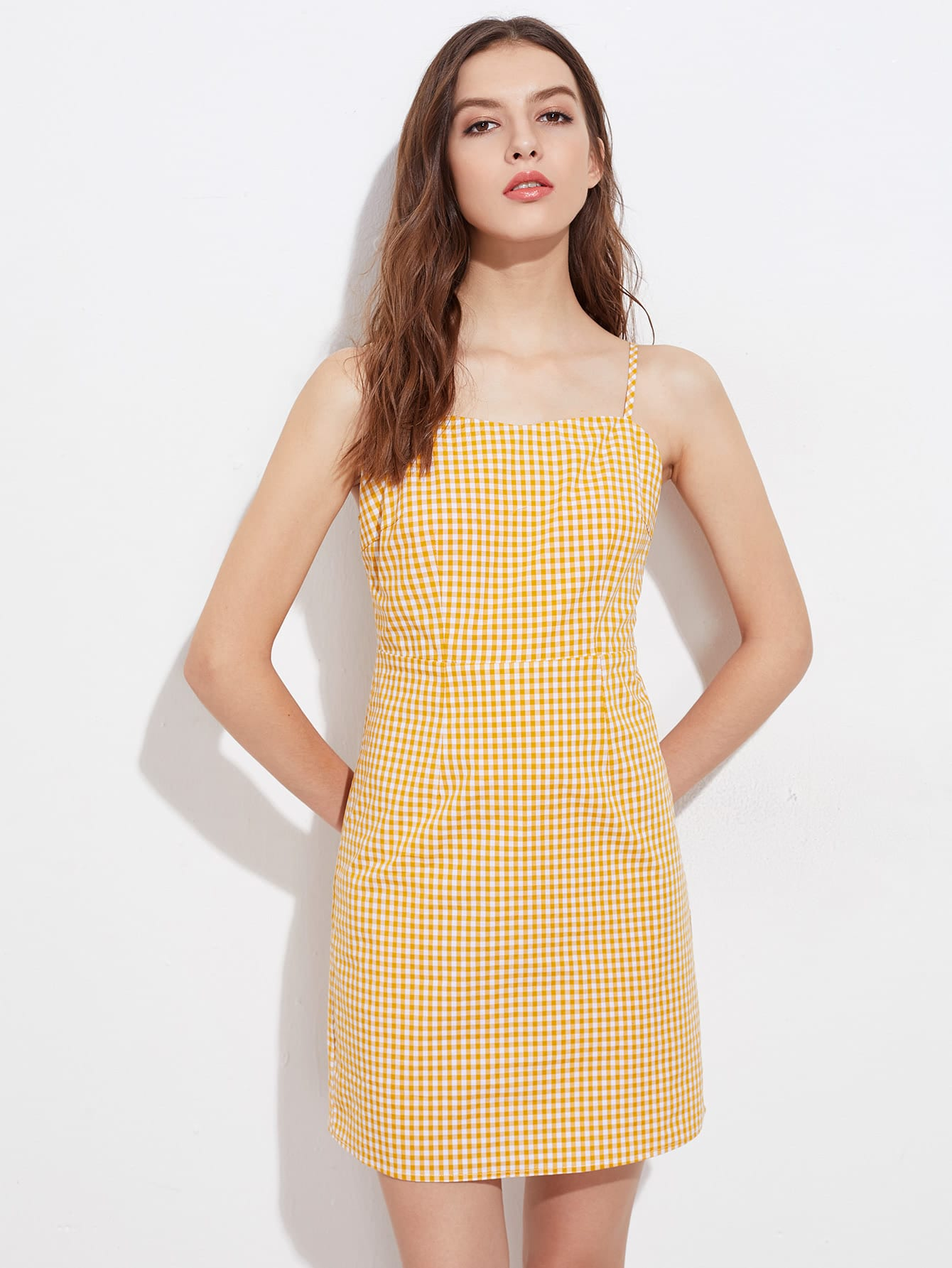 6ff0ee7cd27 Gingham Cami Dress