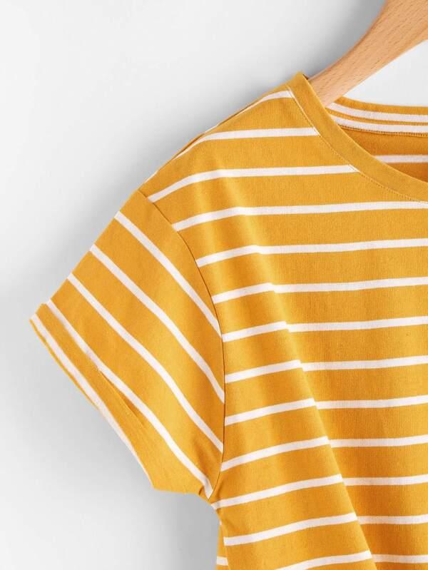 4fa5e445664b Striped Knot Front Tee