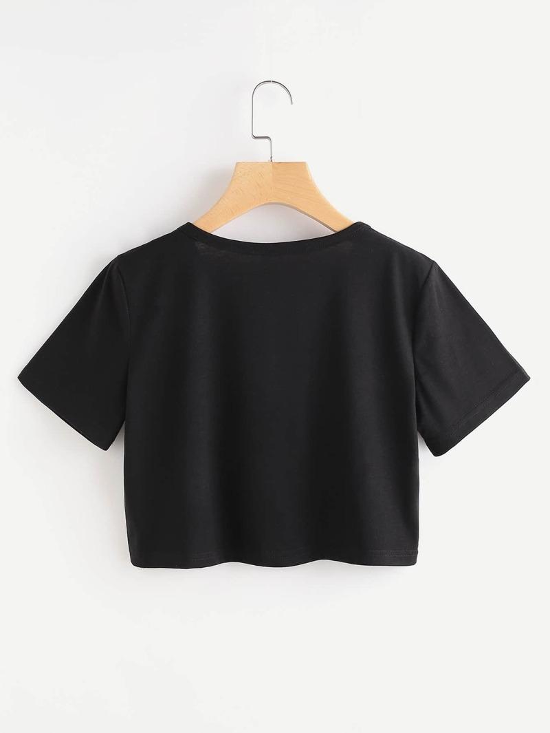 782c6966f51c Camiseta corta con impresión
