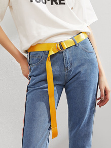 Simple Belt With Double D Ring