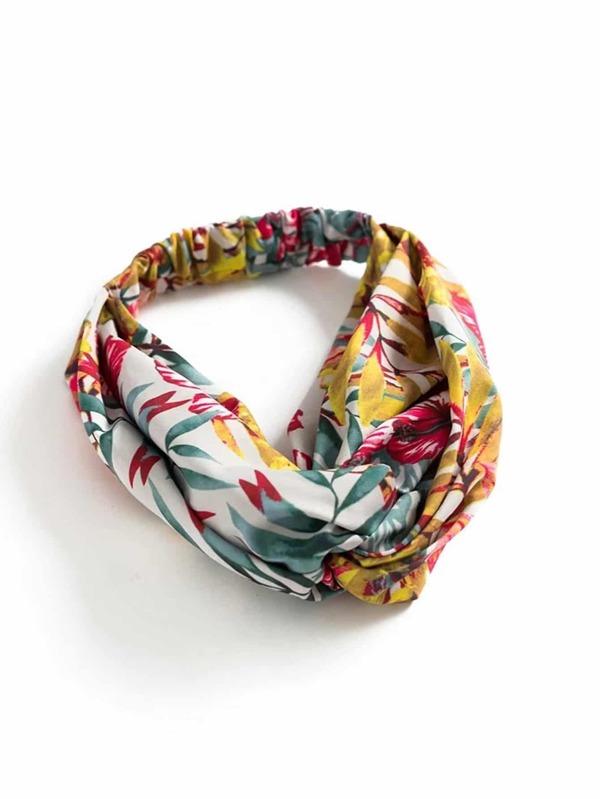 Diadema estilo turbante con estampado floral -Spanish SheIn(Sheinside)