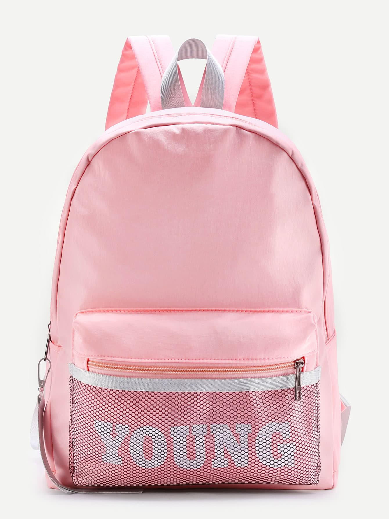a2ecd7da1c35 Mesh Pocket Design Canvas Backpack EmmaCloth-Women Fast Fashion Online