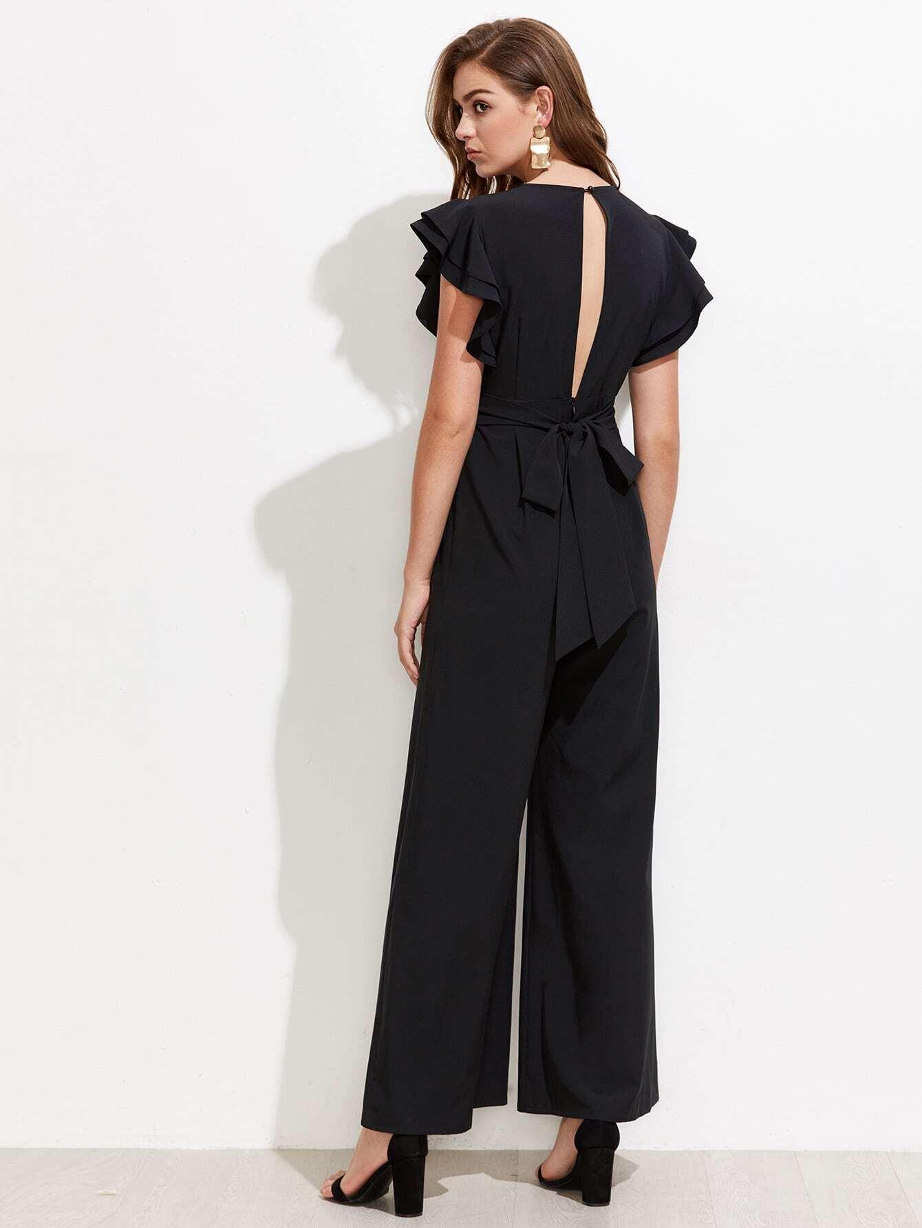 3da03394981 Long Empire Waist Evening Dress With Short Flutter Sleeves - Gomes ...