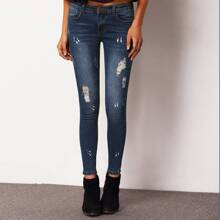 Ripped Skinny Ankle Jeans pant151223104