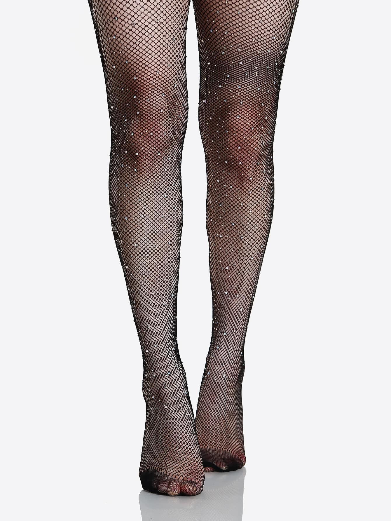 afaad90018bce Diamond Fishnet Stockings BLACK | SHEIN