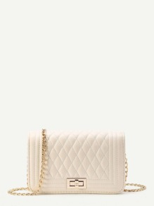 Quilted Flap Bag With Chain