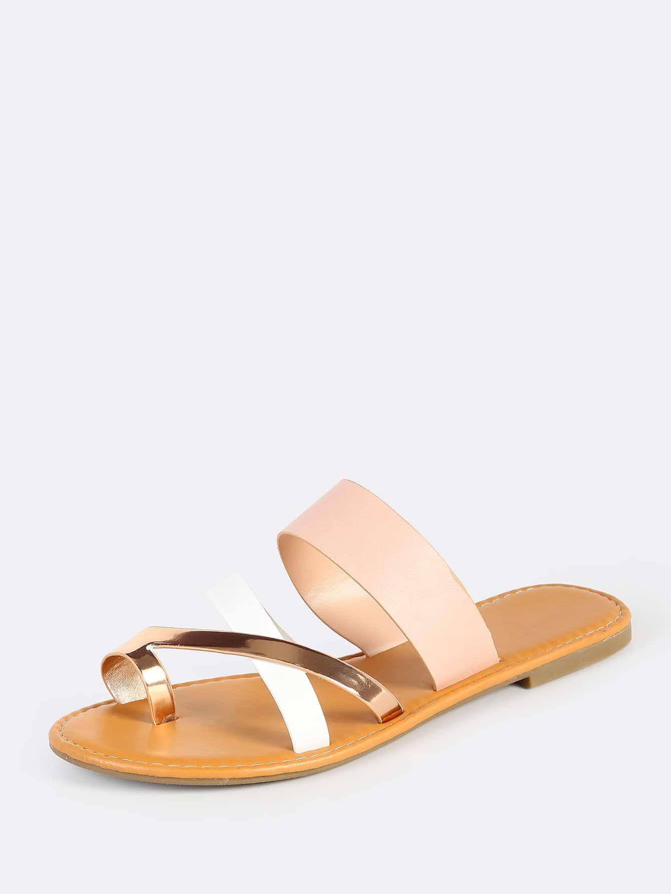 73d1ee0108d7 Multi Toe Ring Sandals BLUSH MULTI