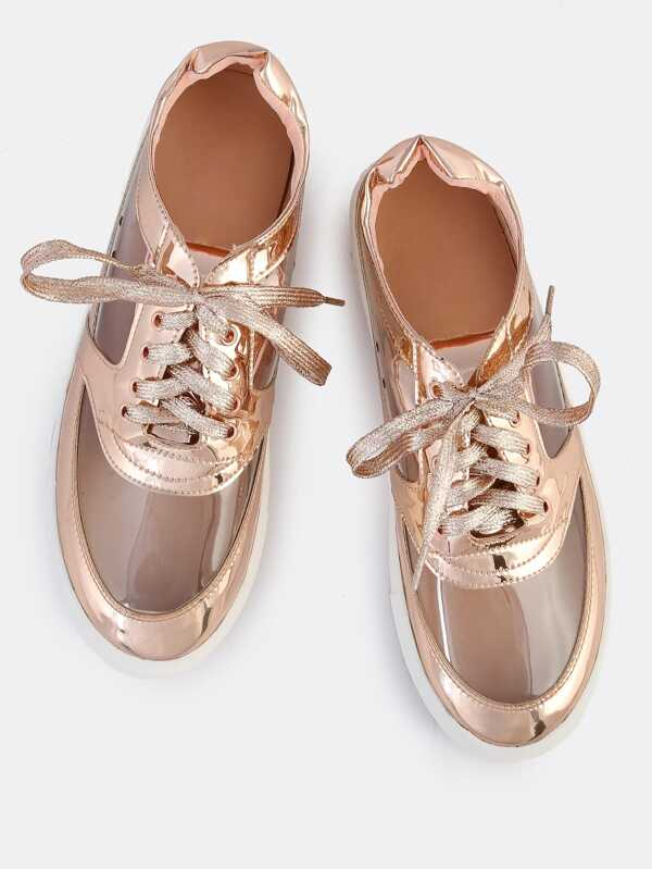 Metallic Clear Gold Clear Sneakers Rose mN0wv8n
