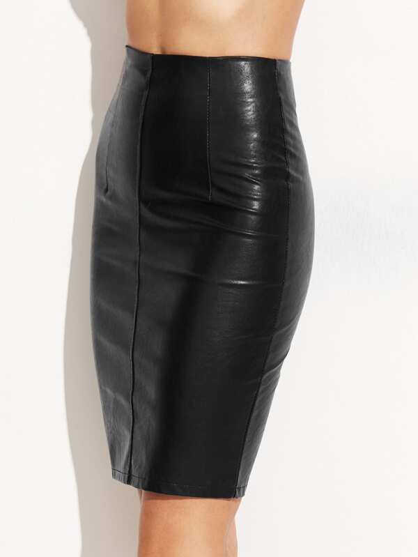 5ac334c9ac Faux Leather Skinny Skirt | SHEIN