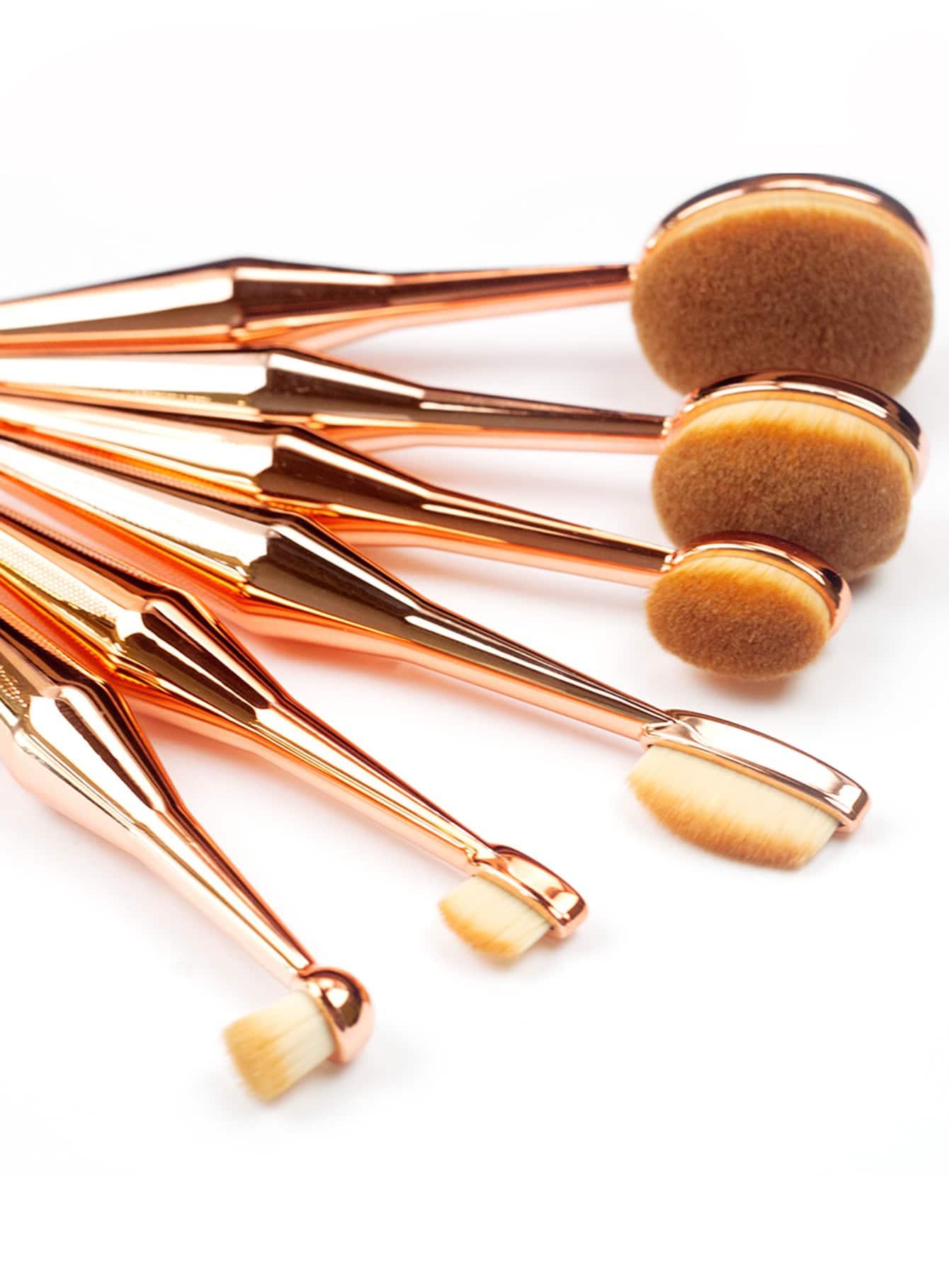 metallic mehrzweck makeup pinsel 6pcs