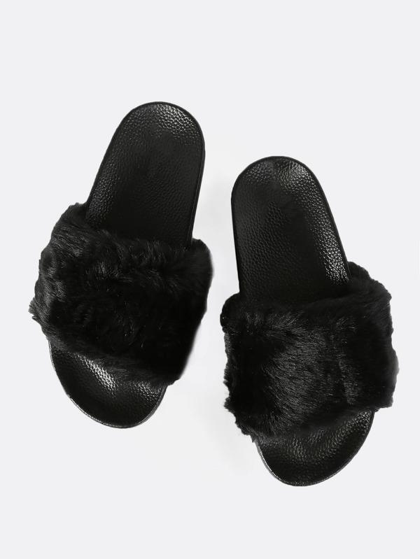 a9103c3c1f86 Cheap Faux Fur Slides BLACK for sale Australia