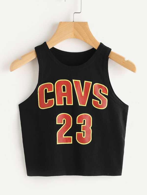 9f26907f73a785 Crop Basketball Tank Top