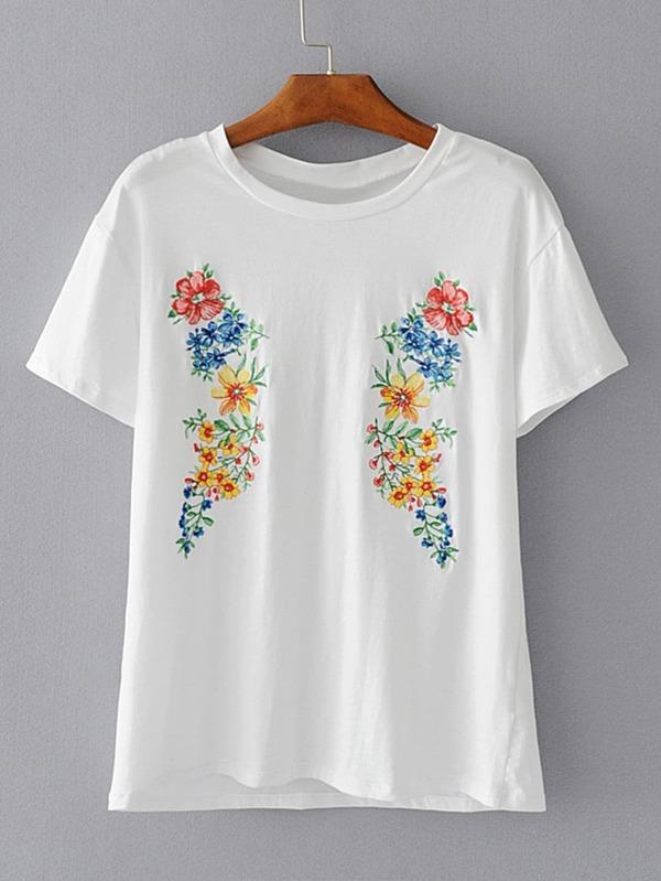 0e65e1b5e Cheap Flower Embroidery T-shirt for sale Australia | SHEIN